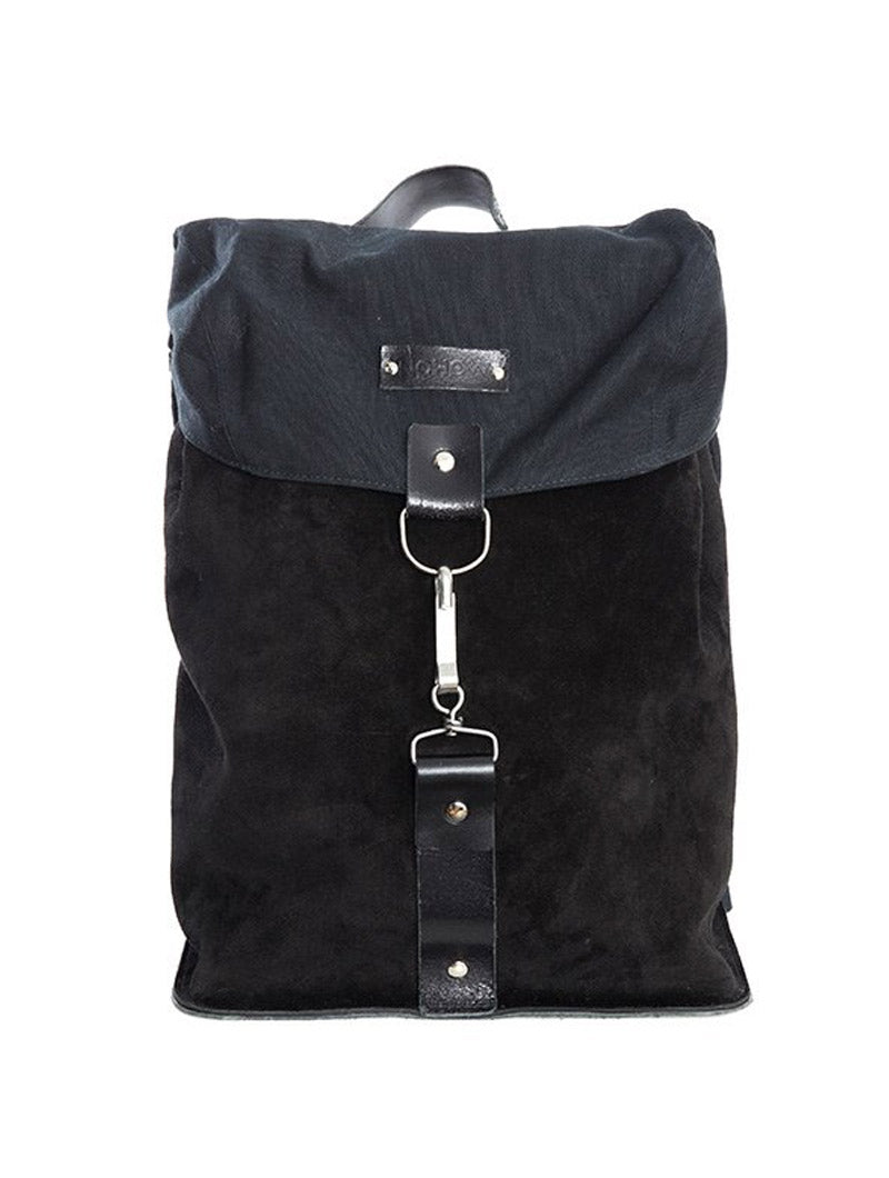 DRIFTER LEATHER BACKPACK IN BLACK
