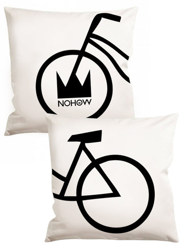 TWO WHITE FIXED BIKE PILLOW