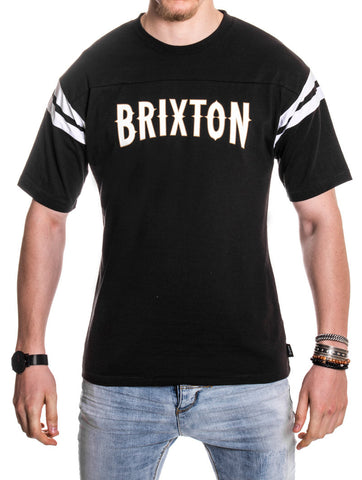Men's Clothing | Benson S/S Knit Black-White T-Shirt | Nohow