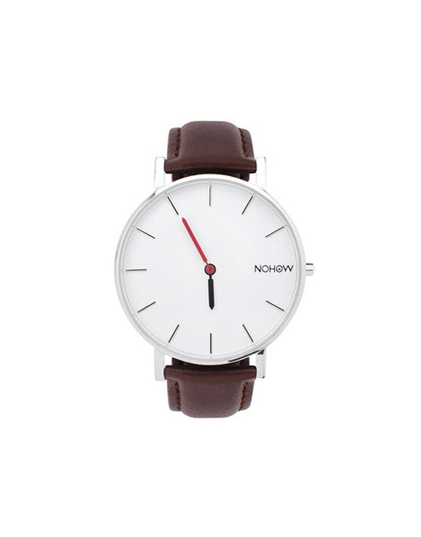 White Pure watch brown leather nohow