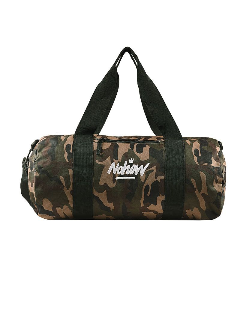 Camo Canvas barrel bag nohow