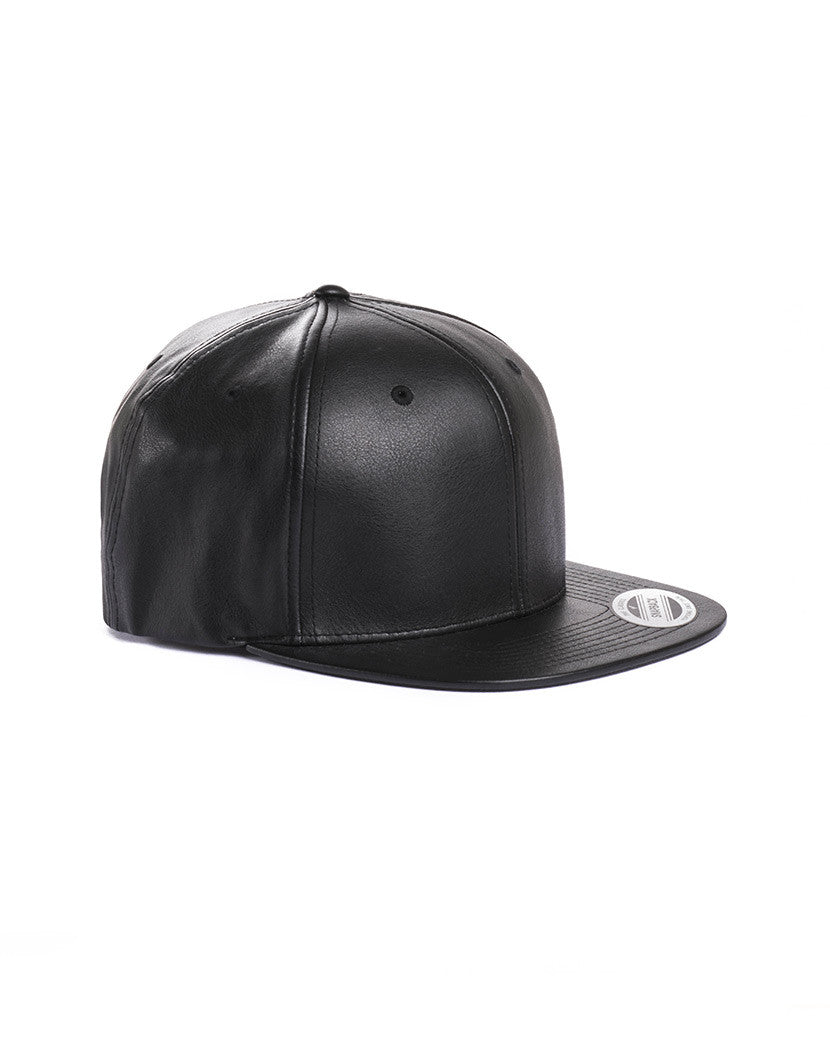 FULL LEATHER SNAPBACK
