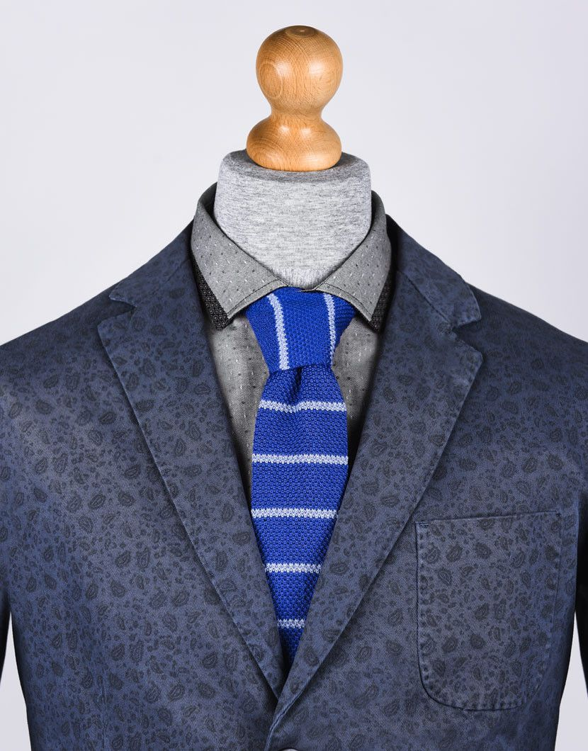 CORAL STRIPED KNITTED TIE grand frank nohow