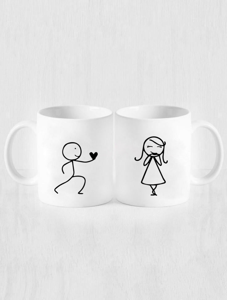 DUDE'S HEART MUGS