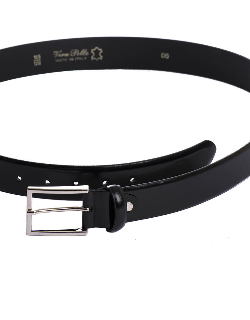 BLACK GLOSSY BELT | MEN'S ACCESSORIES | NOHOW