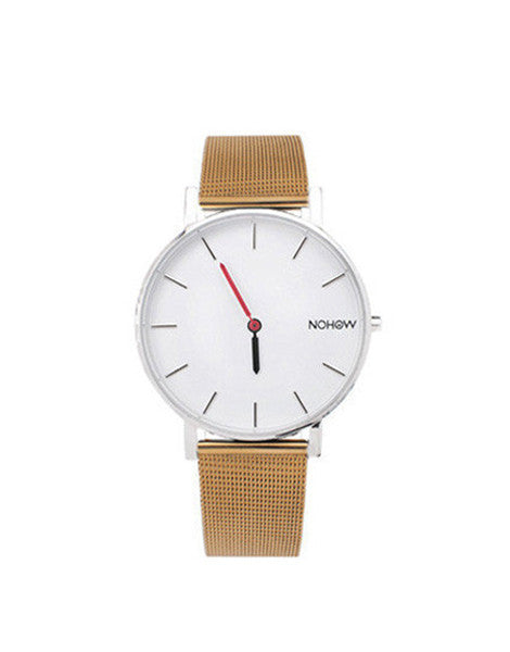 WHITE PURE WATCH GOLD MESH STRAP