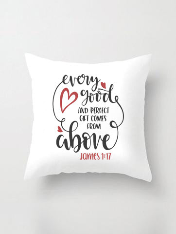 PERFECT GIFTS PILLOW IN WHITE