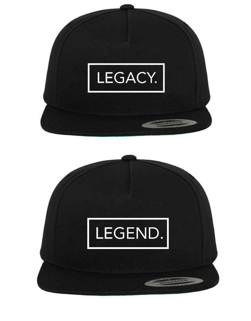 LEGEND & LEGACY BLACK SNAPBACK