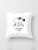 LIFE MEANING WHITE PILLOWCASE