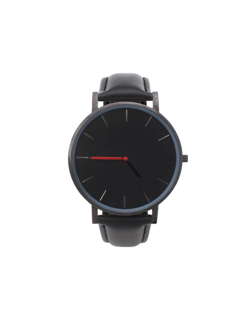Black Pure watch black leather nohow