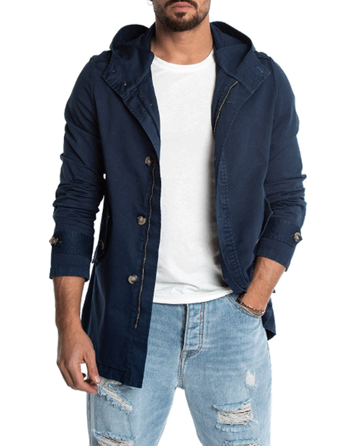 PIER PARKA IN BLUE NAVY