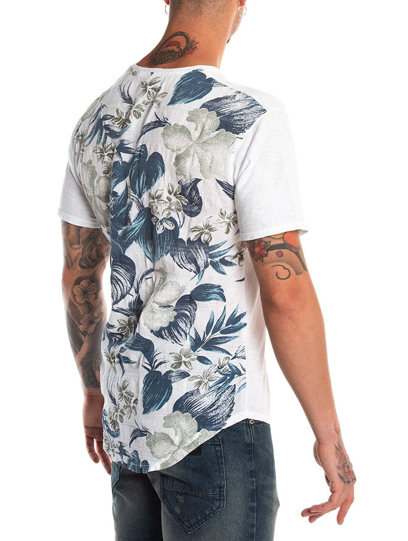 FLOWERS POCKET T-SHIRT