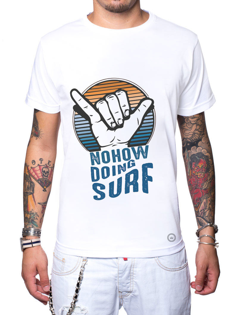 NOHOW TEAM SURF WHITE T-SHIRT