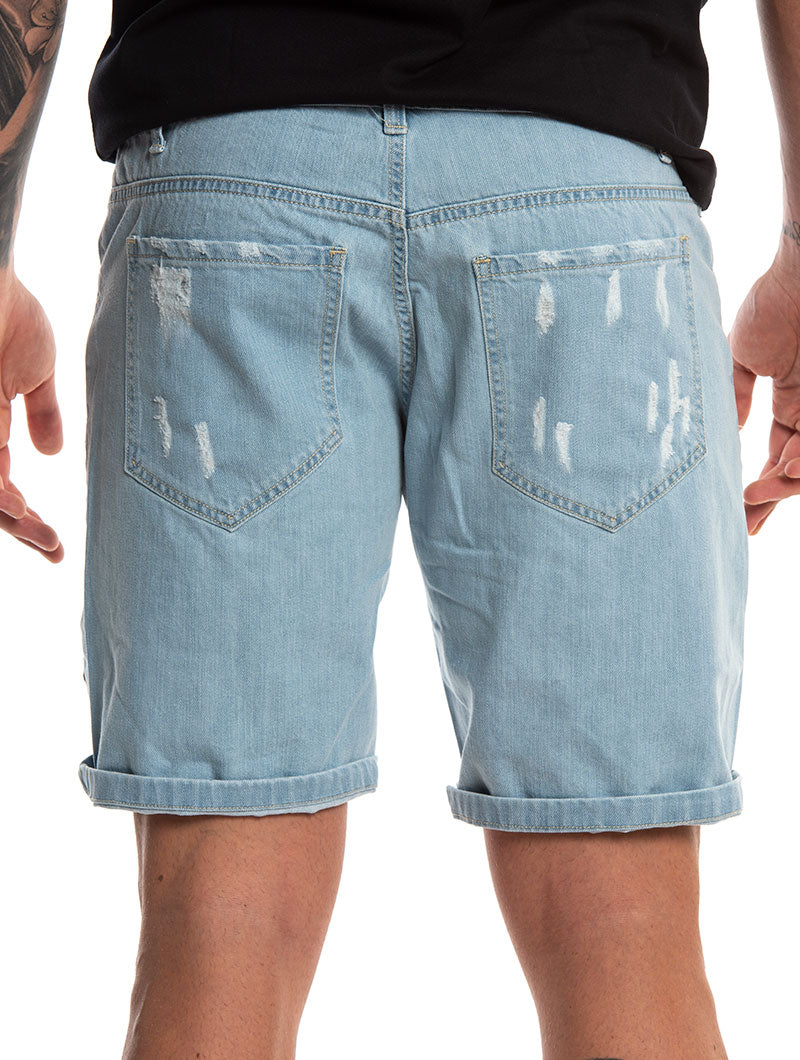 GREYSON PATCH SHORTS IN BLUE
