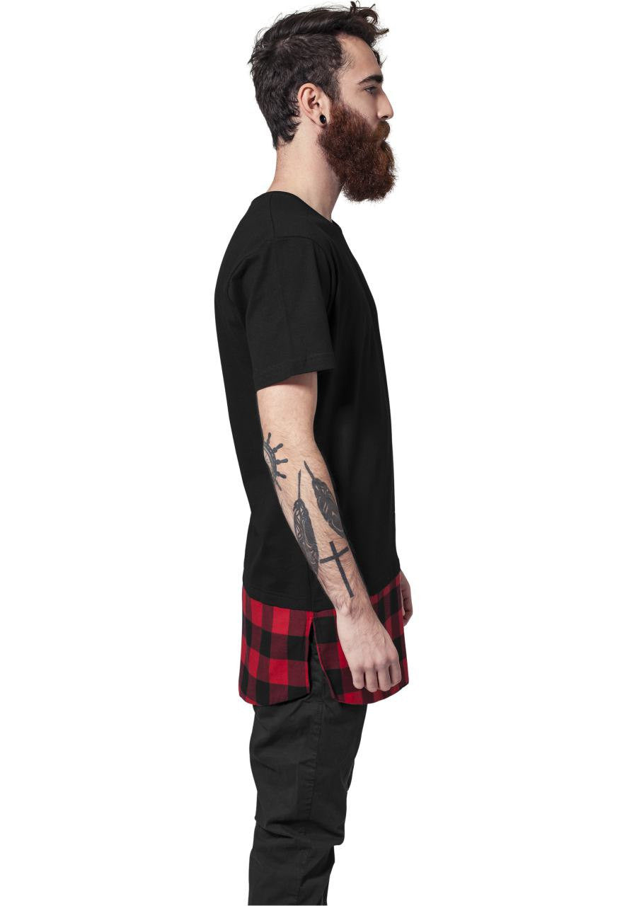 MEN'S T-SHIRT | LONG TEE SHAPED FLANELL RED | NOHOW STYLE