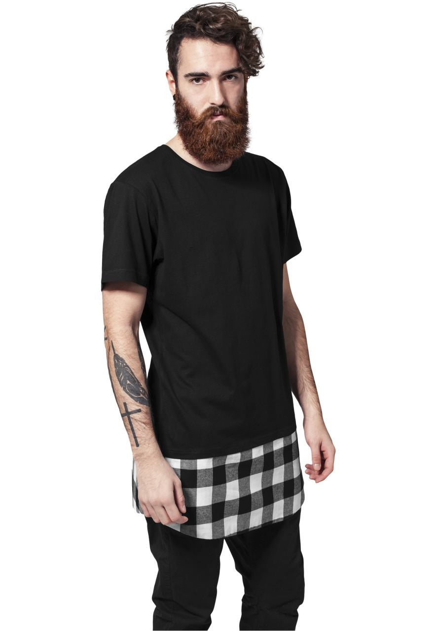 MEN'S T-SHIRT | NOHOW STYLELONG TEE SHAPED FLANELL BLACK