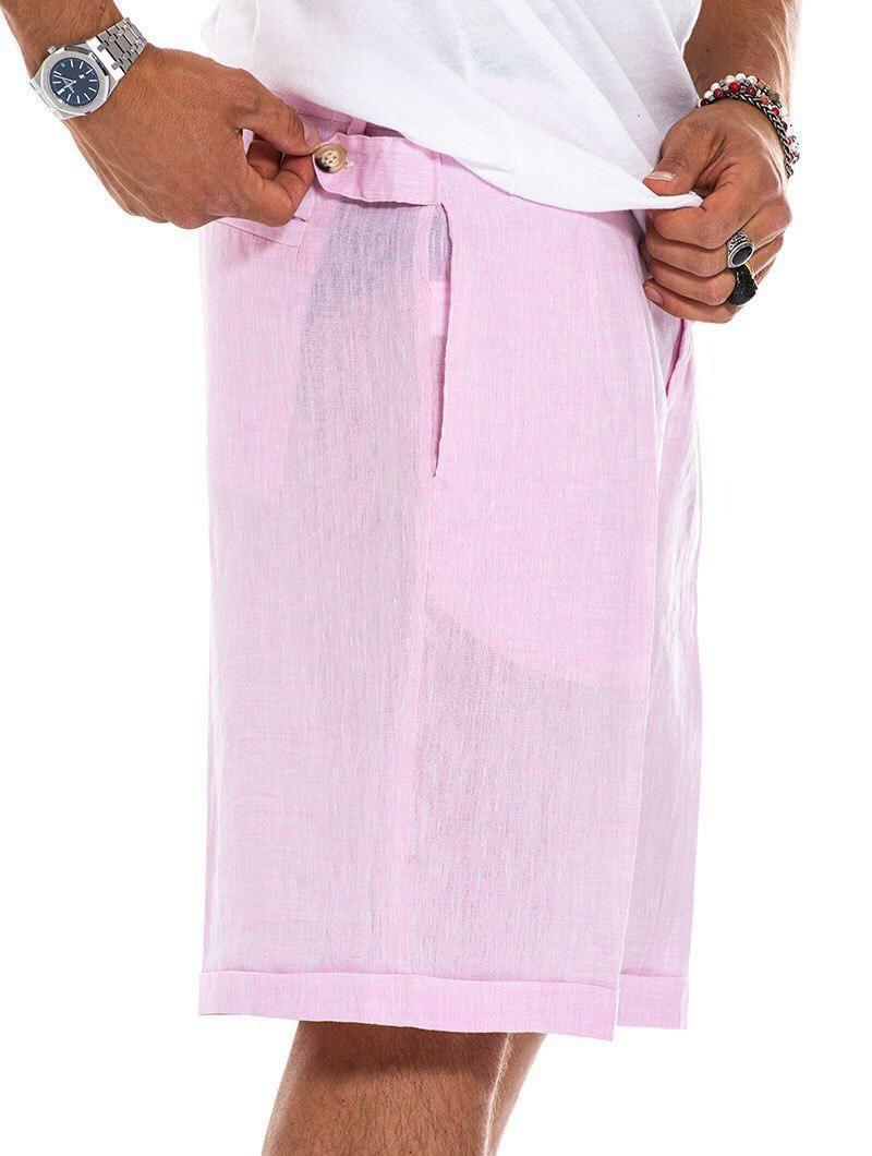 ELWIN CARGO SHORTS IN ROSE