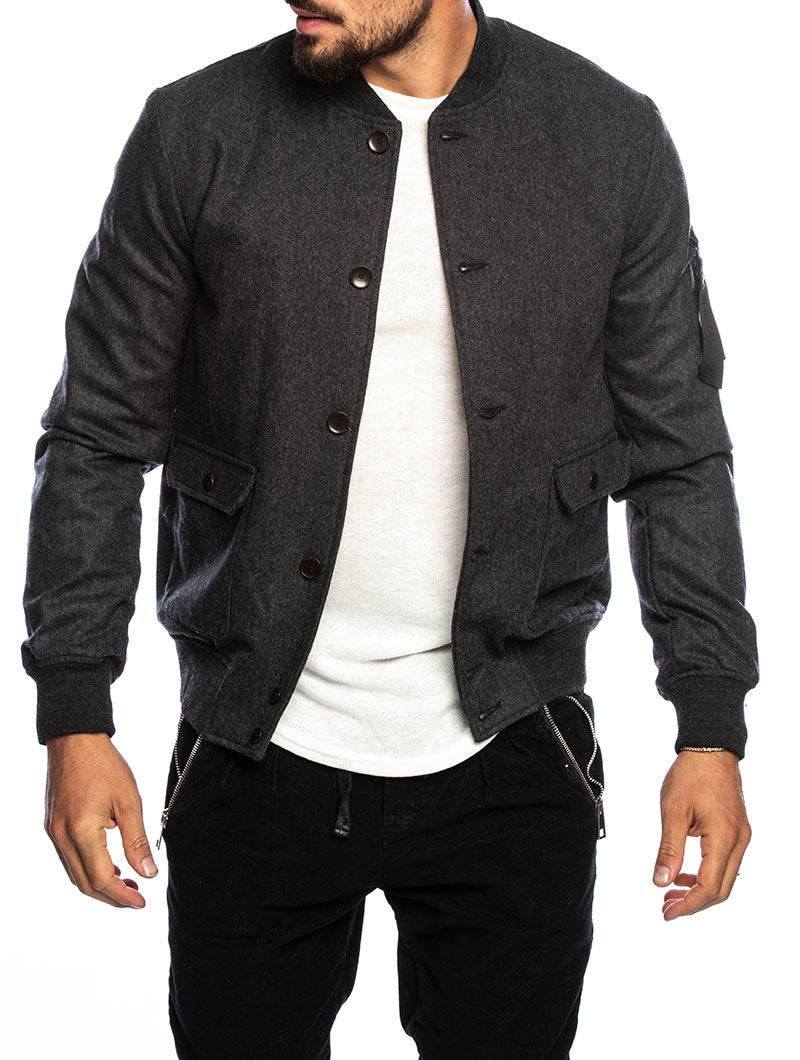BAROCK BOMBER JACKET IN ANTRAX