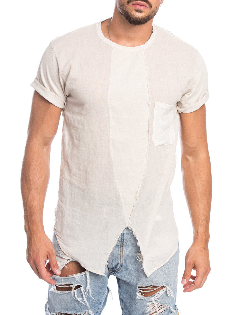 ARABIC SAND POCKET SERAFINO T-SHIRT