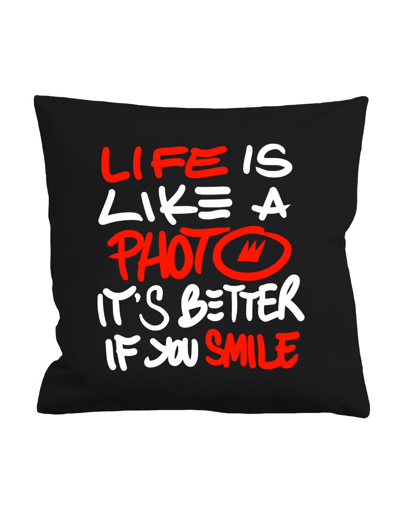 Black Smile pillowcase nohow