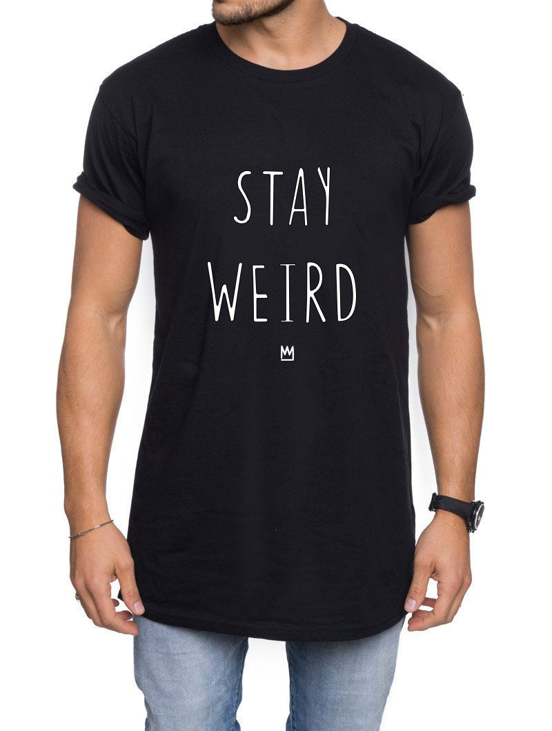 MEN'S CLOTHING | STAY WEIRD BLACK LONG TEE | NOHOW