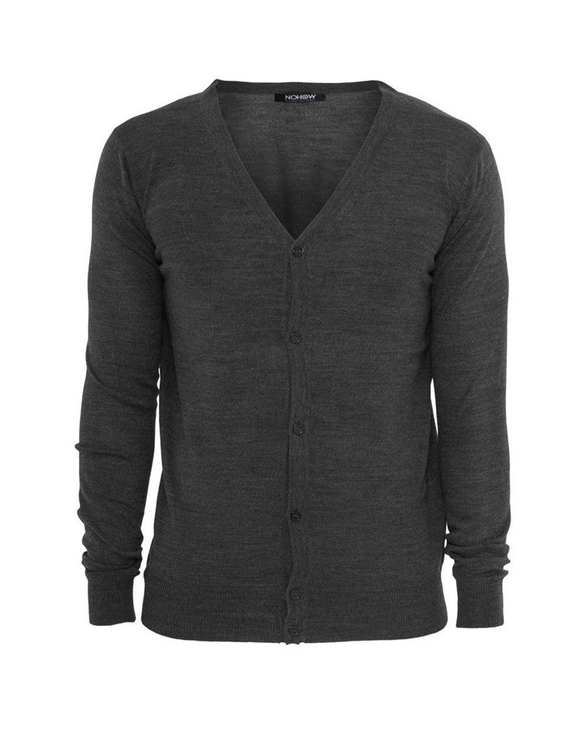 KNITTED CARDIGAN CHARCOAL