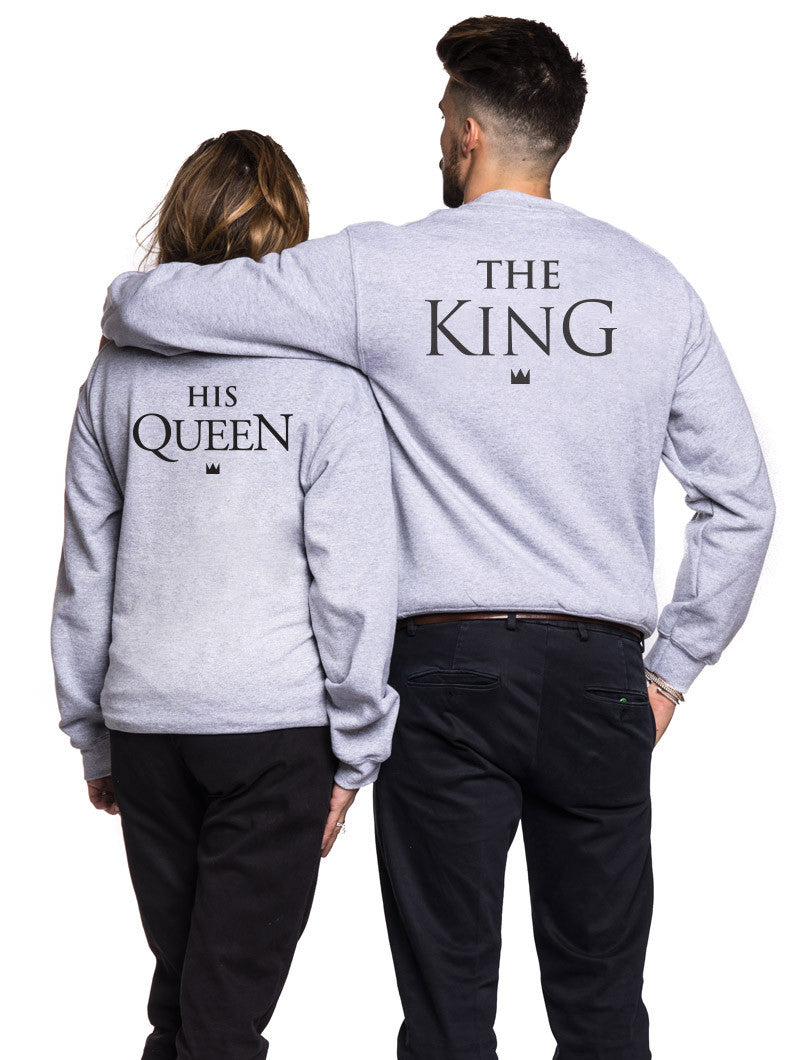 men s clothing king and queen sweatshirt nohow nohow style