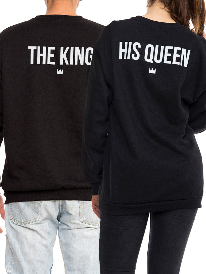 THE KING & HIS QUEEN SWEATSHIRT IN BLACK