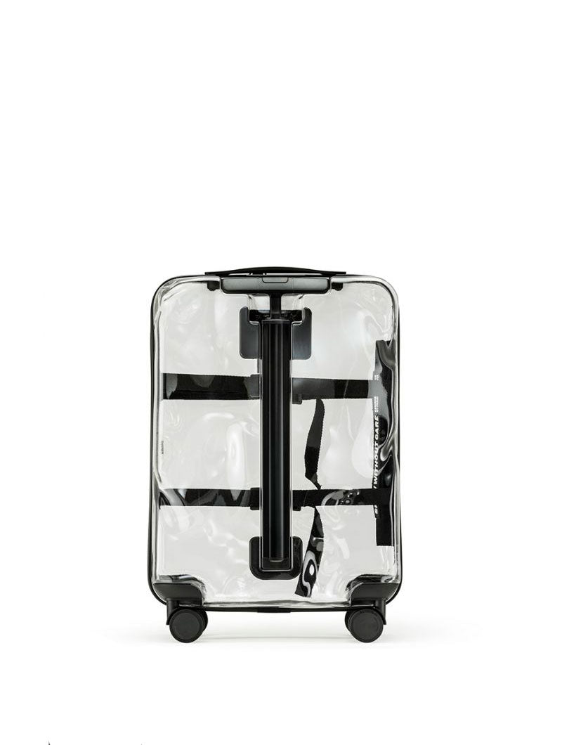 ACCESSORIES | SMALL SHARE TRASPARENT CRASH BAGGAGE | CABIN TROLLEY | HAND LUGGAGE | CRASH BAGGAGE