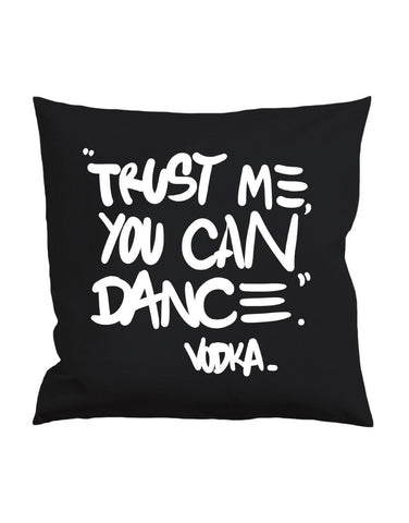 Black Vodka Pillow nohow