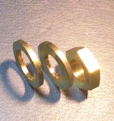 Crank shaft nut and washer set for Honda S Series