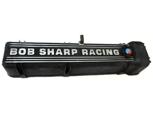 Bob Sharp Racing valve cover with cap. NOS Never used with filler cap Rare!