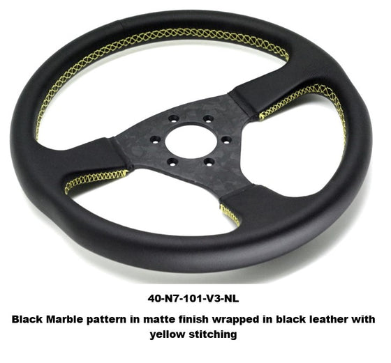 Number 7 Performance Dry Carbon steering wheel Verson 3 Marble Pattern No wraps