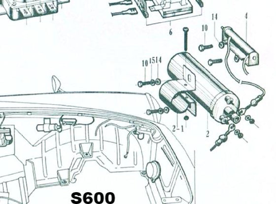 Ignition Coil and Ballast Register Assembly for Honda S Series