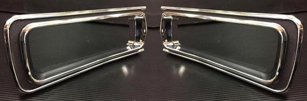 1970 Skyline Hakosuka tail lamp chrome trim set