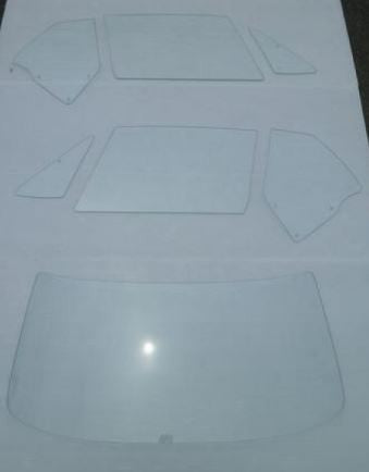 Clear Glass 7 pc set for Skyline Hakosuka 2D HT (NO INT'L SHIPPING)
