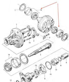 Differential carrier bearing set for Honda S Series