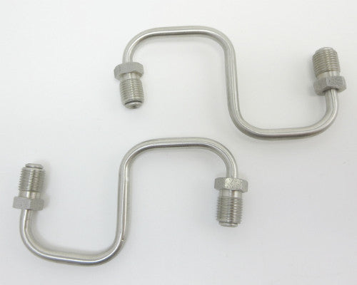 Front brake inlet pipe set stainless steel
