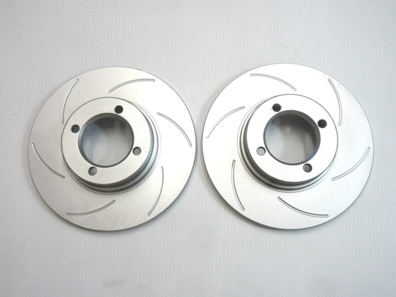 Front Brake Slotted Rotor set Stock Type for Skyline Hakosuka / Kenmeri & Laurel Early Types