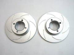 Front brake slotted rotor set stock type for Skyline Hakosuka / Kenmeri & Laurel Early