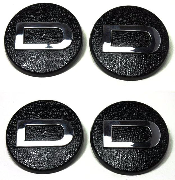 "Reproduction center cap 4pc set for Datsun 240Z Series 1 ""D"" hub cap NEW!"
