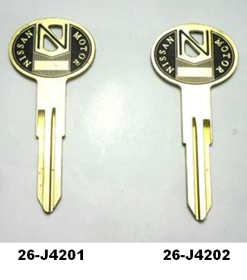 Original finish Blank key for Datsun 240Z 260Z 280Z