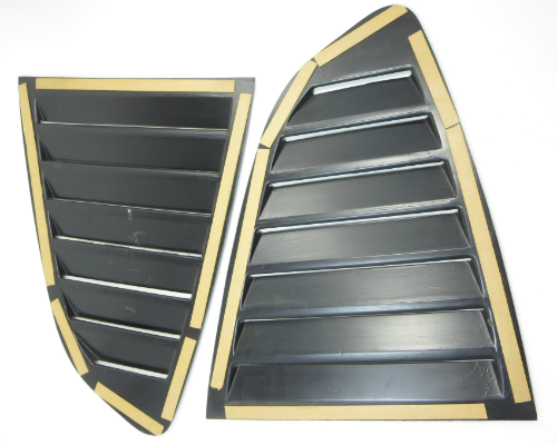 7 fin quarter glass louver set for Datsun 240Z, 260Z, and 280Z, NOS