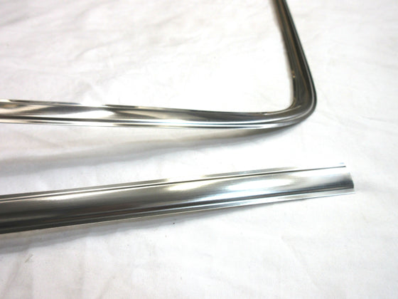 Windshield 6-pc stainless molding set, NOS (NO INT'L SHIPPING)