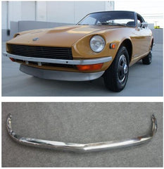 Front bumper Euro type Chrome finish reproduction for 1969-'72 Datsun 240Z (NO INT'L SHIPPING)