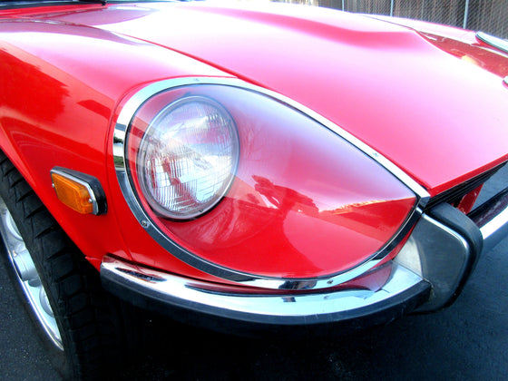 Blem Sale!  Datsun 240Z 1965 Prototype Design Flat Mount Headlight Cover Set with Blemish! Special Discounted price!