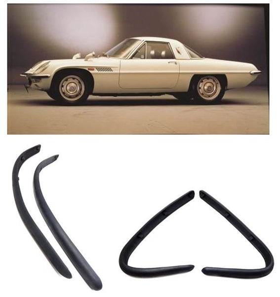 Front and rear bumper molding set for Mazda Cosmo Sport Late 1968-72