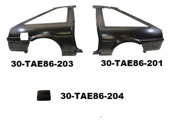 Quarter Panel parts for Toyota Corolla AE86 Hatchback (No International Shipping)