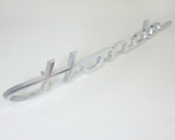 Honda S600 S800 fender emblem early type aluminum NOS