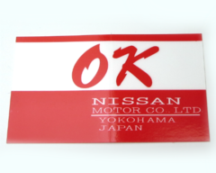 """OK"" decal for Datsun 240Z, 260Z, 280Z, and 510"